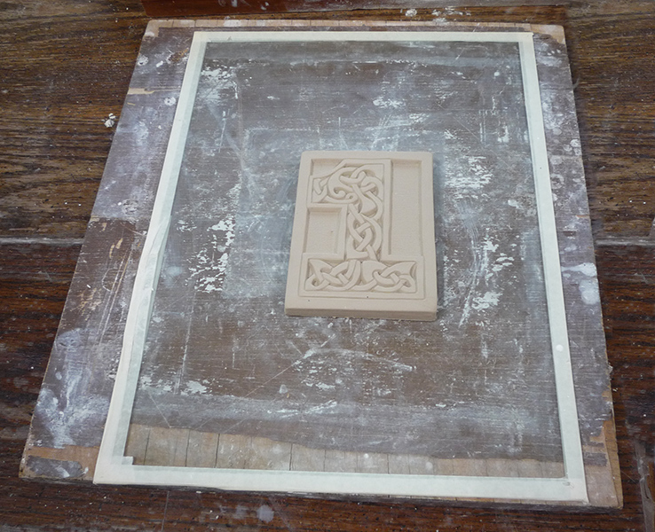 Making A Plaster Press Mold For A Tile Meet My Friend