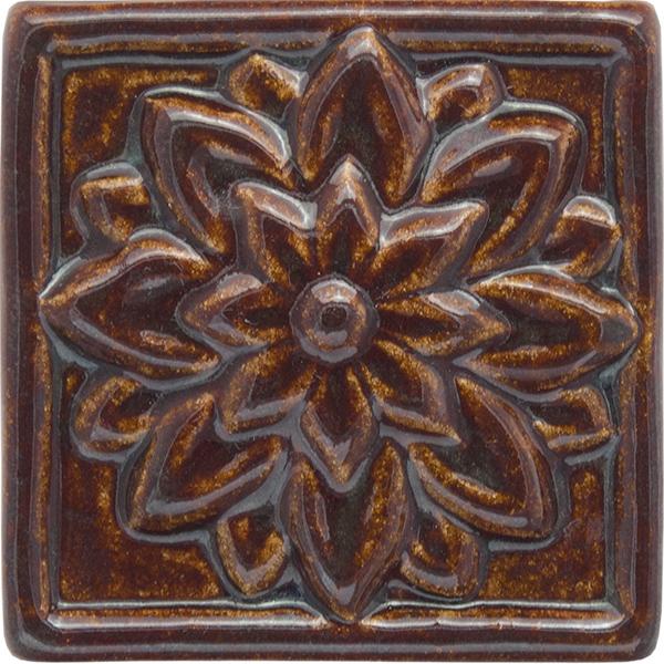 Dahlia Handmade Ceramic Accent Tile 4x4