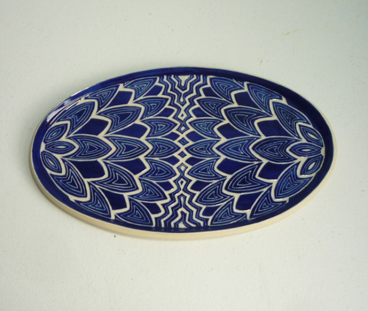 Oval Sgraffito Plate