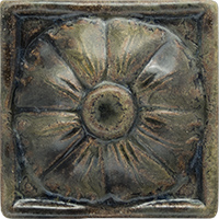 Dome Flower Ceramic Tile - high relief 3x3