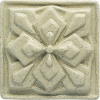 Geometric Flower Ceramic Tile - high relief (3x3)