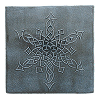 Snowflake Knot Tile (6x6) - denim