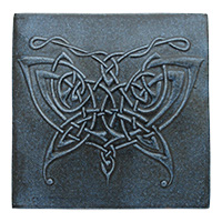 Butterfly Knot Tile (5x5) - denim