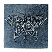 Butterfly Knot Tile (4x4) - denim