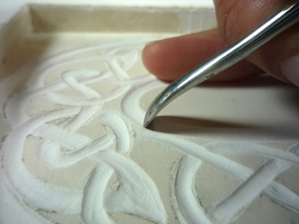 Carving Plaster: Celtic Knot Numbers & Alphabet (Part 1)