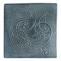 Peacock Knot Tile - denim