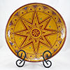 Sgraffito Sun Plate - Sgraffito Plates and Such