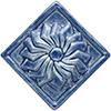 pinwheel flower tile - Blue Willow