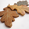 Ceramic oak leaves - Autumn is Upon Us