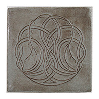 Blue Willow Knot Tile - frost