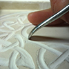 Carving Plaster - Celtic Knot numbers and alphabet