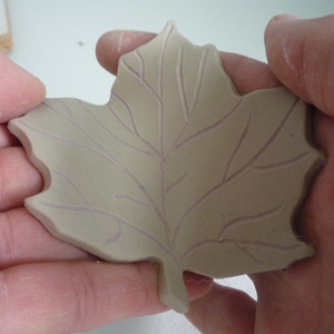 Forming Ceramic Maple Leaf