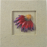 Purple Cone Flower Tile