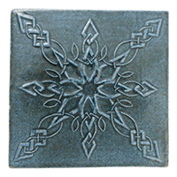 Snowflake Knot Tile (4x4) - denim