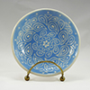 Blue Sgraffit Plate - Sgraffito Plates and Such