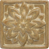 Dahlia Ceramic Tile - High Relief (3x3)