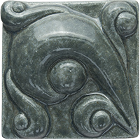 Vines Ceramic Tile - high relief (2x2)