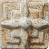 Geometric Star Ceramic Tile - high relief (2x2)