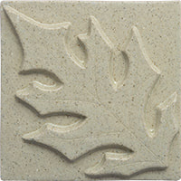 pin oak leaf handmade ceramic tile from Blue Willow