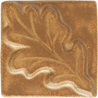 white oak leaf handmade ceramic accent tile from Blue Willow