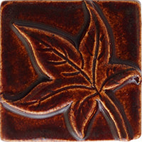 sweet gum handmade ceramic accent tile from Blue Willow