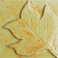 tulip tree leaf handmade ceramic accent tile