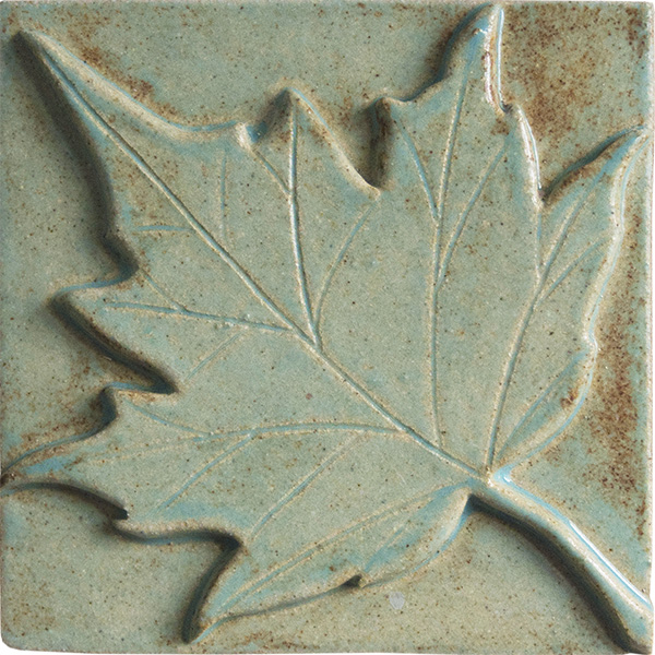 Maple Leaf Ceramic Tile 2x2
