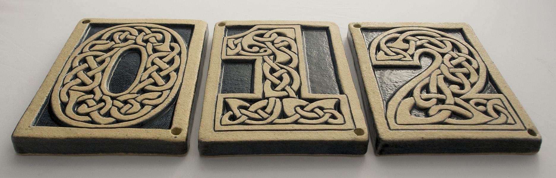 Celtic knot house number 6 handmade ceramic tile celtic knot number tile number 6 dailygadgetfo Gallery