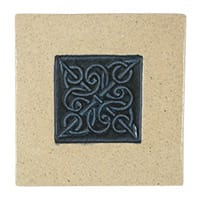 Ceramic tile with Celtic knot design (4x4) from Blue Willow